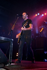 Rise Against singer Tim McIlrath.