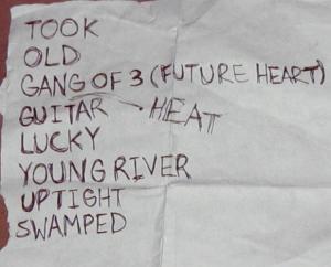 Young Widows setlist