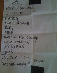 Far setlist