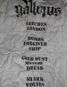 Gallows setlist