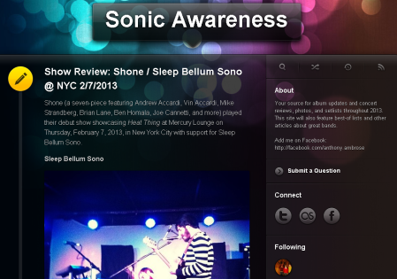 We've moved to SonicAwareness.net !